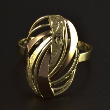 Zlatý prsten jemná rytina 5992 č.1