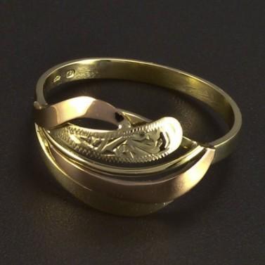 Zlatý prsten žluté a červené zlato 5994 č.1