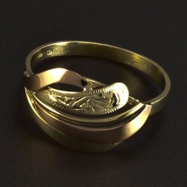 Zlatý prsten žluté a červené zlato 5994 č.3
