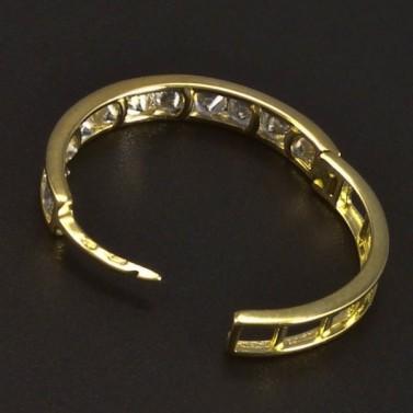Zlaté kruhy se zirkony průměr 6067 č.2