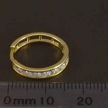 Zlaté kruhy se zirkony průměr 6068 č.3