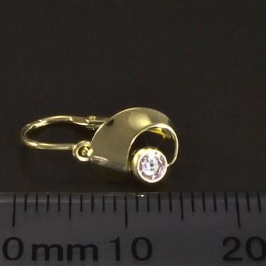 Dětské náušnice zlato růžový zirkon 6082 č.3