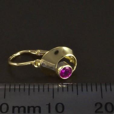 Dětské náušnice zlato rubín 6084 č.3