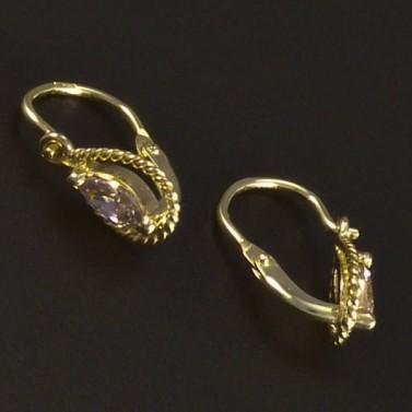 Dětské zlaté náušnice kapkový tvar 6087 č.2