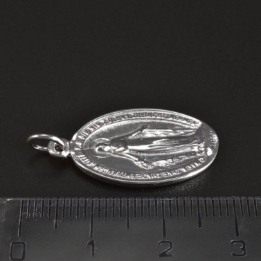 Stříbrný přívěsek destička madonka 6103 č.3