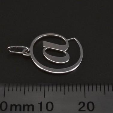 Stříbrný přívěsek tvar zavináč 6163 č.2