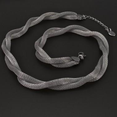 Proplétaný náhrdelník z chirurgické oceli 6182 č.1