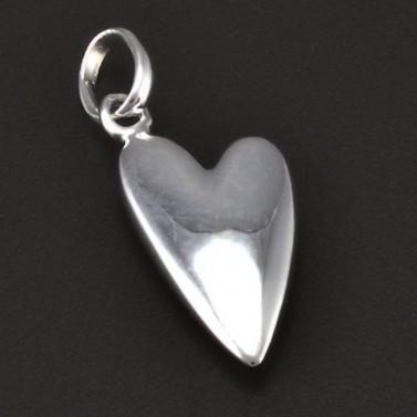 Stříbrné hladké srdce 6200 č.1