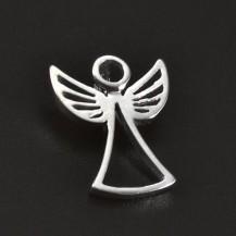 Stříbrný přívěsek hladký lesklý anděl 6204