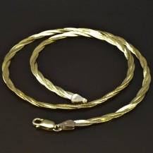 Zlatý pletený náhrdelník 6208