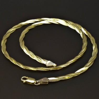 Zlatý pletený náhrdelník 6208 č.1
