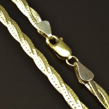 Zlatý pletený náhrdelník 6208 č.2