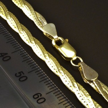 Zlatý pletený náhrdelník 6208 č.3