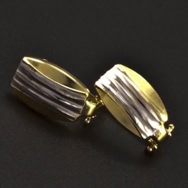 Zlaté náušnice žlutobílá kombinace 6263 č.1