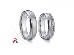 Snubní prsteny ocelové drobné zirkony 6308