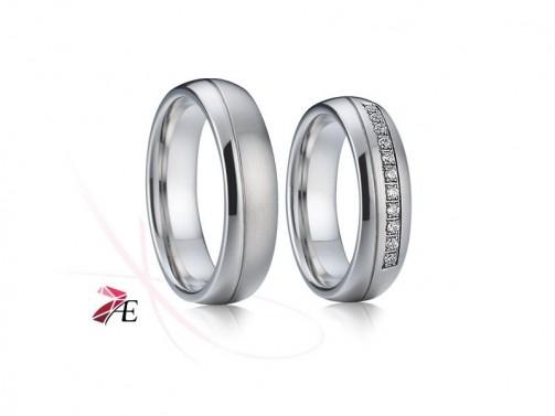 Snubní prsteny ocelové 001 Romeo a Julie č.1