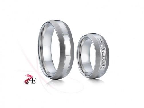 Ocelové snubní prsteny 002 Ceasar a Cleopatra č.1