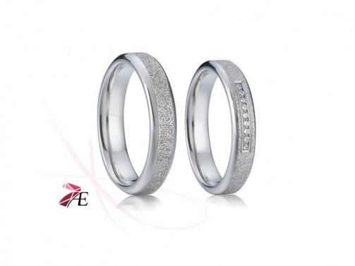 Ocelové snubní prsteny 003 Miroslav a Krasomila č.1