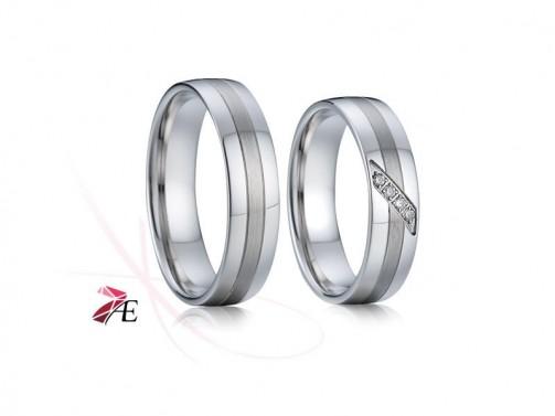 Snubní prsteny z chirurgické oceli 004 Charles a Diana č.1