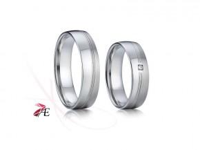 Snubní prsteny ocel 005 Radúz a Mahulena