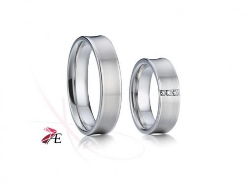 Chirurgická ocel snubní prsteny 006 Adam a Eva č.1