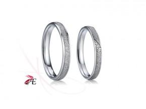 Ocelové snubní prsteny 007 Radovan a Lada