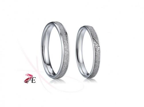 Ocelové snubní prsteny 007 Radovan a Lada č.1