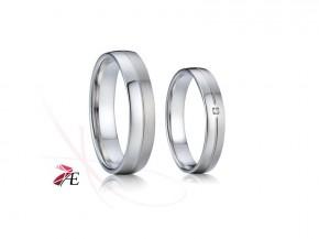 Ocelové snubní prsteny se zirkonem 6315