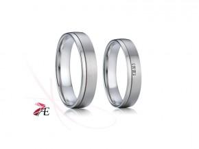 Snubní prsteny chirurgická ocel 009 Evžen a Taťána