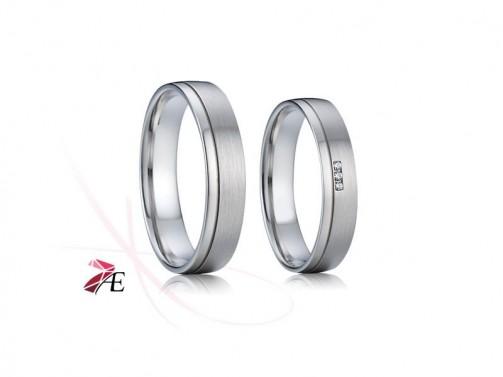 Snubní prsteny chirurgická ocel 009 Evžen a Taťána č.1