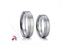 Snubní prsteny chirurgická ocel 010 Robin a Mariana