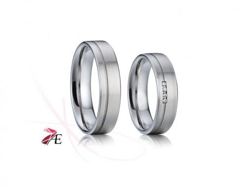 Snubní prsteny chirurgická ocel 010 Robin a Mariana č.1