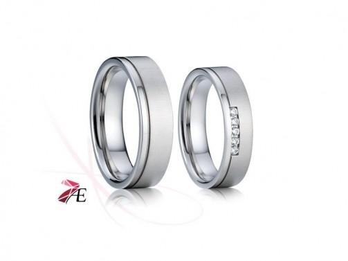 Ocelové snubní prsteny 012 Lancelot a Guinevera č.1