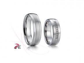 Ocelové snubní prsteny 015 Odysseus a Penelope