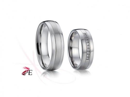 Ocelové snubní prsteny 015 Odysseus a Penelope č.1