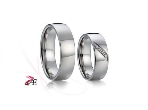 Ocelové snubní prsteny 017 Tristan a Isolda č.1