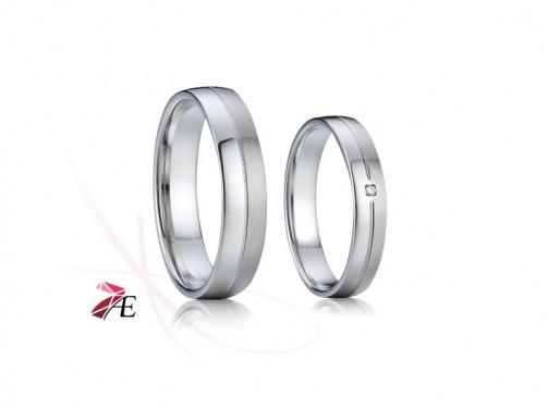 Snubní prsteny stříbrné 008 Kristián a Mařenka č.1