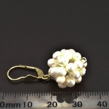 Zlaté perlové náušnice koule 6329 č.3