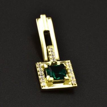 Zlatý přívěsek s čtvercovým smaragdem 6335 č.1