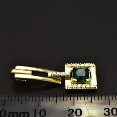 Zlatý přívěsek s čtvercovým smaragdem 6335 č.2