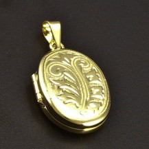 Zlatý medailon s ruční rytinou 6338