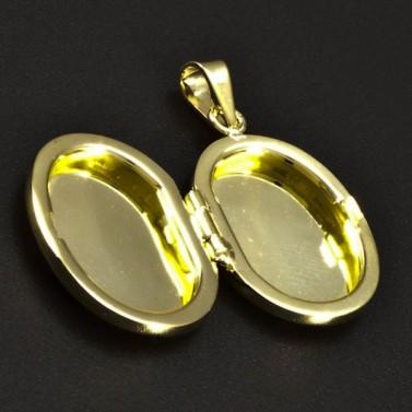 Zlatý medailon s ruční rytinou 6338 č.2