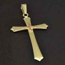 Přívěsek zlatý křížek 6339