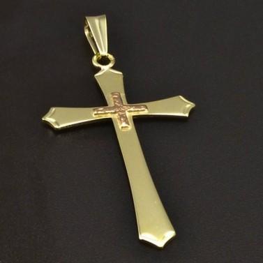 Přívěsek zlatý křížek 6339 č.1