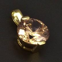Zlatý přívěsek champagne zirkon 6369