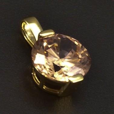 Zlatý přívěsek champagne zirkon 6369 č.1