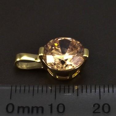 Zlatý přívěsek champagne zirkon 6369 č.2