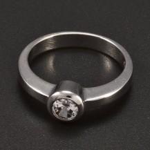 Zásnubní stříbrný prsten 6382