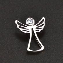 Přívěsek anděl bílé zlato 6384
