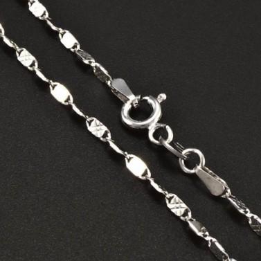 Stříbrný slabší řetízek 6395 č.1